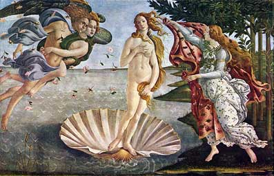 Sandro Botticelli. The Birth of Venus