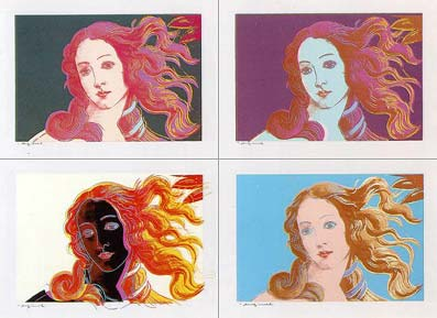 Andy Warhol. Details of Renaissance Paintings
