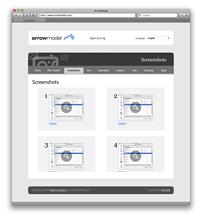 Screenshots page