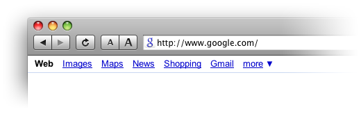 New Google favicon in the browser's URL line