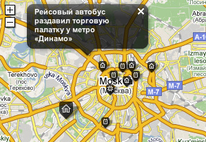 Map on homepage.ru