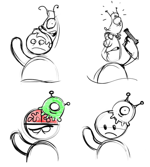 Brain Slug sketches
